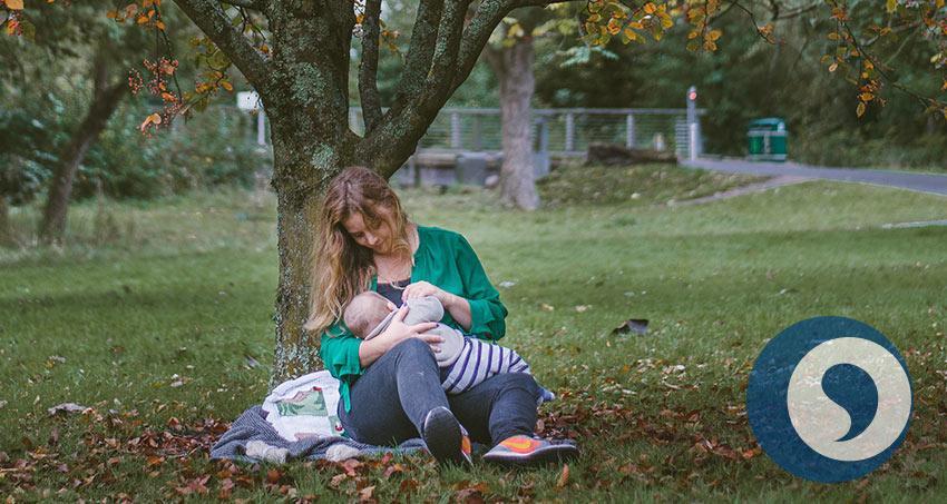 Stillen des Säuglings